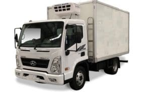 Hyundai EX8 - refrigerator for transportation of meat carcasses with a hydrobord
